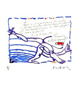 Alechinsky Pierre : Gravure eau-forte : Carta-Canta