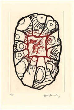 Alechinsky Pierre : Gravure : Dans la forêt