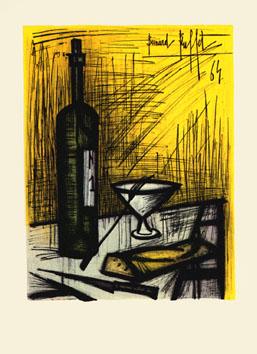 Buffet Bernard : Lithographie : Le pain, le vin