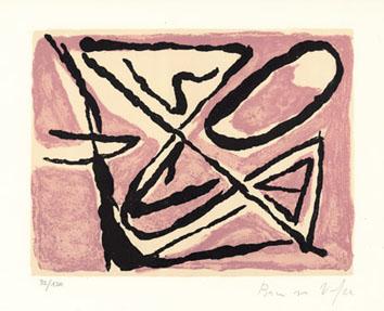 Van Velde Bram : Lithographie originale : Composition II
