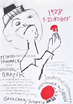 Original exhibition poster de  : Triennale of Grenchen