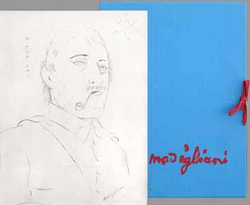 Modigliani Amedeo : Portfolio with reproductions : Fifteen drawings and watercolors