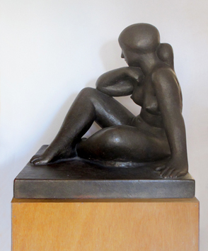 Original signed sculpture de Jaoul André : Meditation