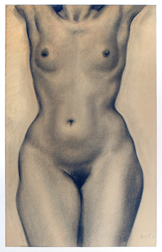 Signed drawing de  : Study of a nude I