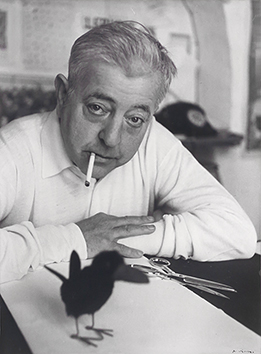 Original signed photograph de  : Portrait of Jacques Prévert