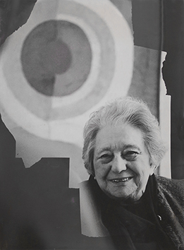 Original signed photograph de  : Portrait of Sonia Delaunay