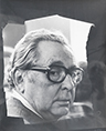 Original signed photograph de  : Portrait of Hans Hartung