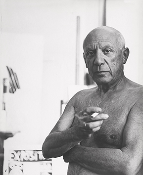 Original signed photograph de  : Portrait of Picasso