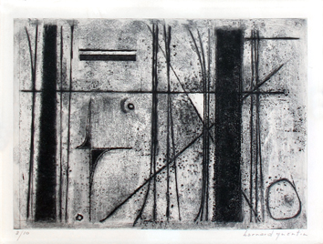 Original signed etching de Quentin Bernard : Without title