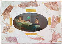 Signierte Original-Mischtechnik de  : Les auras - Deux femmes