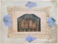 Signierte Original-Collage de  : Les auras - Nus de dos