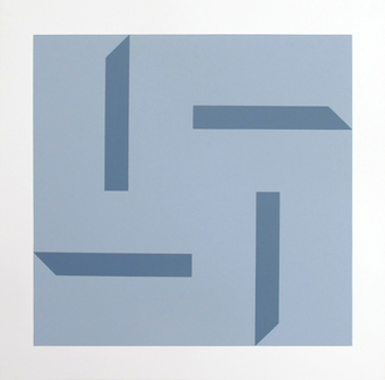 Original signed screenprint de Dadamaino E. Emilia : Geometrical composition II