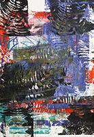 Acrylique originale sur papier de  : Composition sans titre I