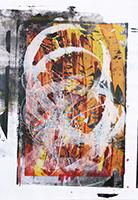 Acrylique originale sur papier de  : Composition sans titre II
