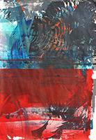 Acrylique originale sur papier de  : Composition sans titre III