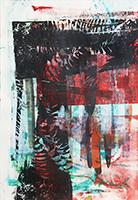 Acrylique originale sur papier de  : Composition sans titre V