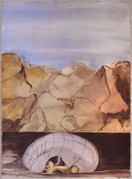 Marz� Emile : Signed watercolour : Composition