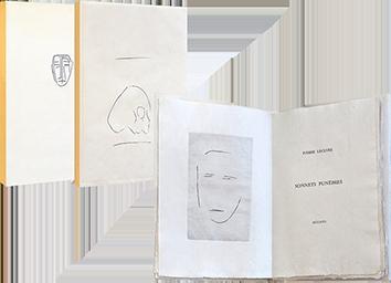 Livre avec gravures de  : Sonnets funèbres