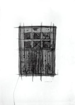 Signierte Original-Zeichnung de  : Komposition