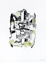 Signierte Originallithographie de  : Croix