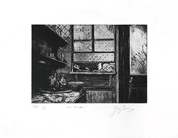 Original signed etching de Braun Guy : Chez