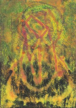 Aquarelle originale signée de  : Composition abstraite III