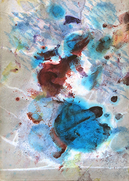 Aquarelle originale signée de  : Composition abstraite IV