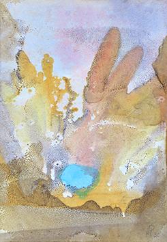 Aquarelle originale signée de  : Composition abstraite VI