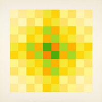 Signierte Originalserigraphie de  : Relation couleur II