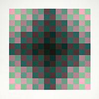 Signierte Originalserigraphie de  : Relation couleur III