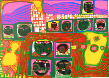 Hundertwasser F. : Screenprint : Kingdom of the toro