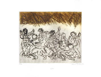 Signed etching de  : Fight