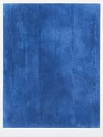 Signierte originale Radierung de  : Bleu profond