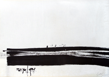 Degottex Jean : Original signed lithograph : Composition II