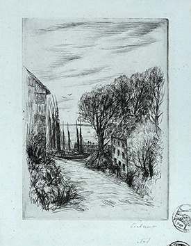 Original signed drypoint de  : Port Lay
