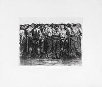Signierte originale Radierung de  : Die Gefangenen