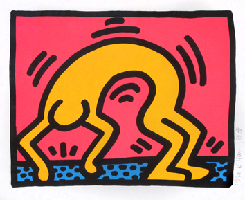 Haring Keith : Original signed screenprint : Pop Shop II