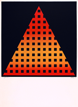 Sérigraphie originale signée de  : Pyramide 91