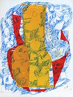 Mischtechnik-Zeichnung de  : Komposition II