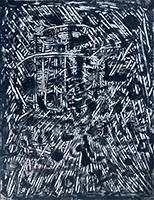 Tinte-Zeichnung de  : Komposition IV