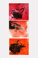 Original signed etching de  : GC 30-31-32 red
