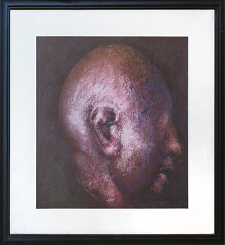 Original signed pastel de  : Character in profile