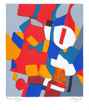 Original signed lithograph de  : Abstract composition