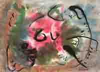Original signed mixed technique de  : Composition without title II