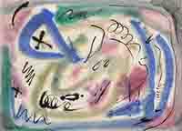 Signierte Original-Mischtechnik de  : Komposition ohne Titel IV
