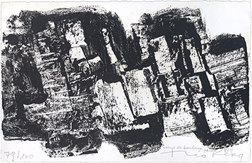Original signed lithograph de  : Composition III