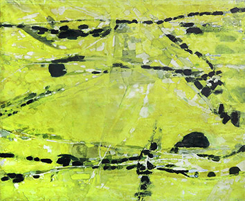 Signierte originale Öl-Malerei de  : Komposition XIII