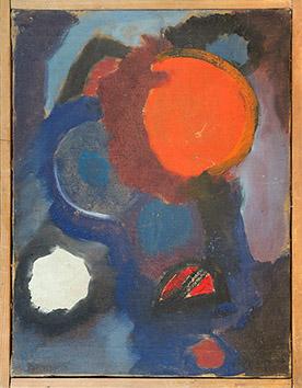 Huile originale signée de Appleby Theodore : Composition III