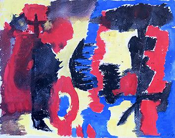 Acrylique originale de Appleby Theodore : Composition VIII