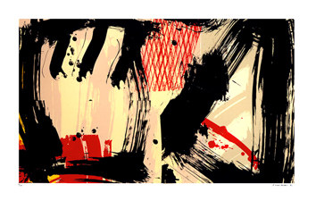 Original signed screenprint de  : Dopo Como I